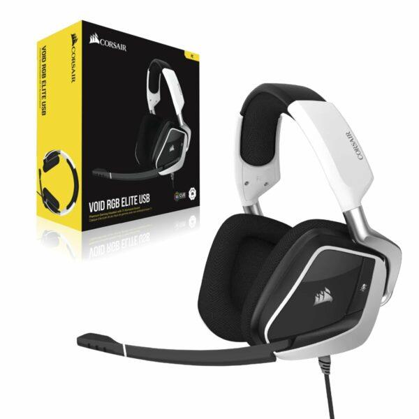 Auriculares Corsair Gaming VOID RGB ELITE Blancos CA-9011204-EU