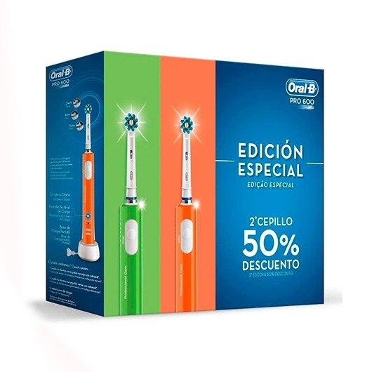 Pack de 2 cepillos eléctricos Oral-B Pro 600 - Edición Especial