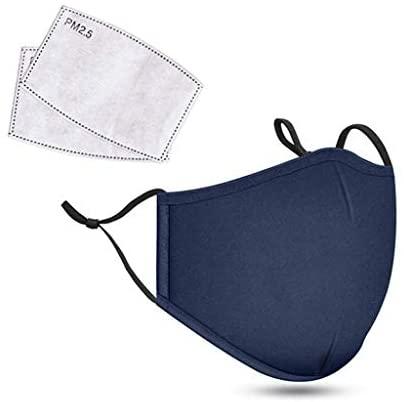 Mascarillas de tela lavable con filtro reemplazable.
