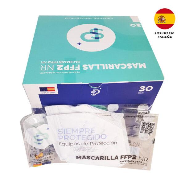 Mascarillas FFP2 Siempre Protegido Blancas Hechas en España