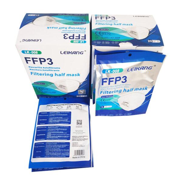 Mascarillas FFP3 Leikang Blancas