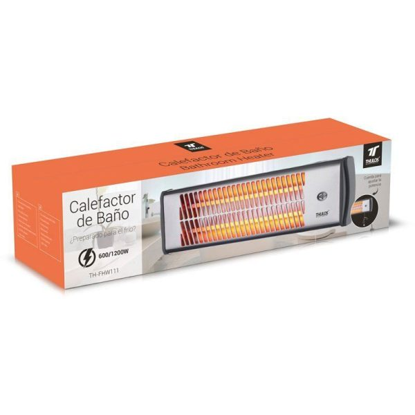 Calefactor eléctrico mural 600-1200W THULOS TH-FHW111