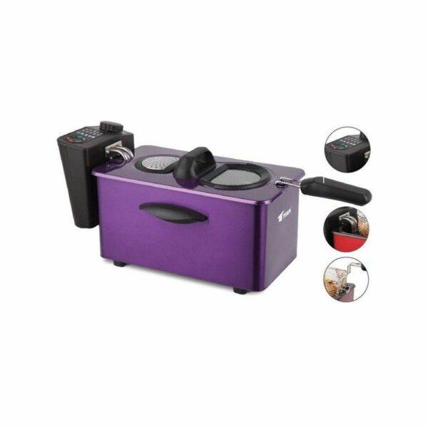 Freidora eléctrica con depósito de aceite de 3.5 litros Thulos TH-FR35W