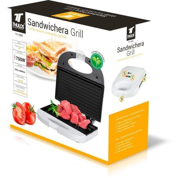 Sandwichera Grill 750W Thulos TH-SW8