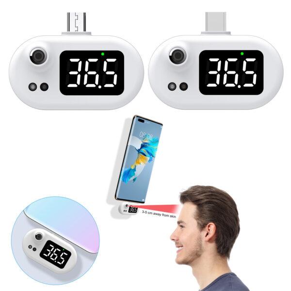 Termómetro digital mini USB para teléfono móvil